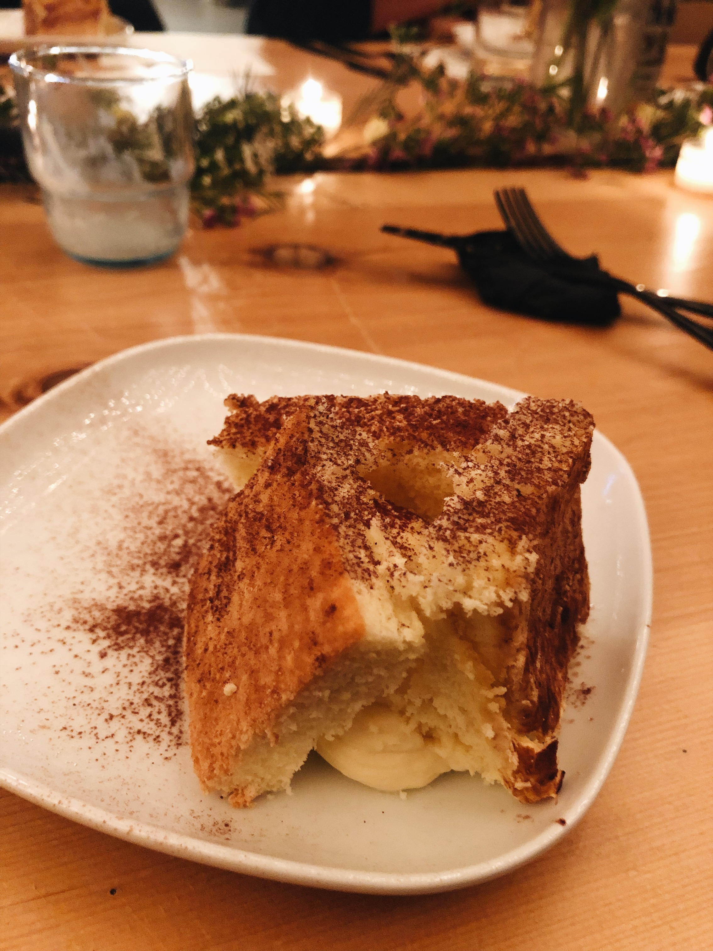 6th course: Coconut Sponge cake. Coconut tiramisu, not to crazy about dessert but this was really good.