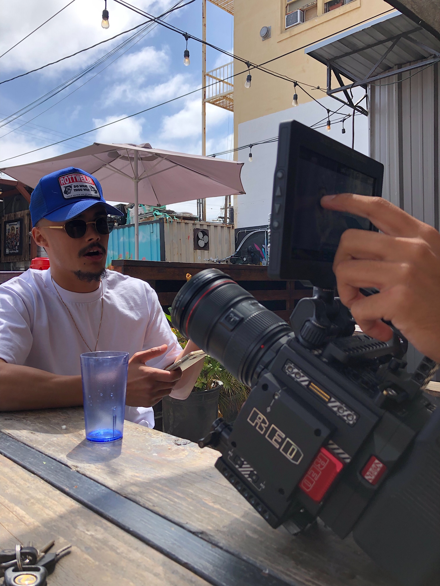 Video was shot with a Red camera! Eric is dead serious about his work.