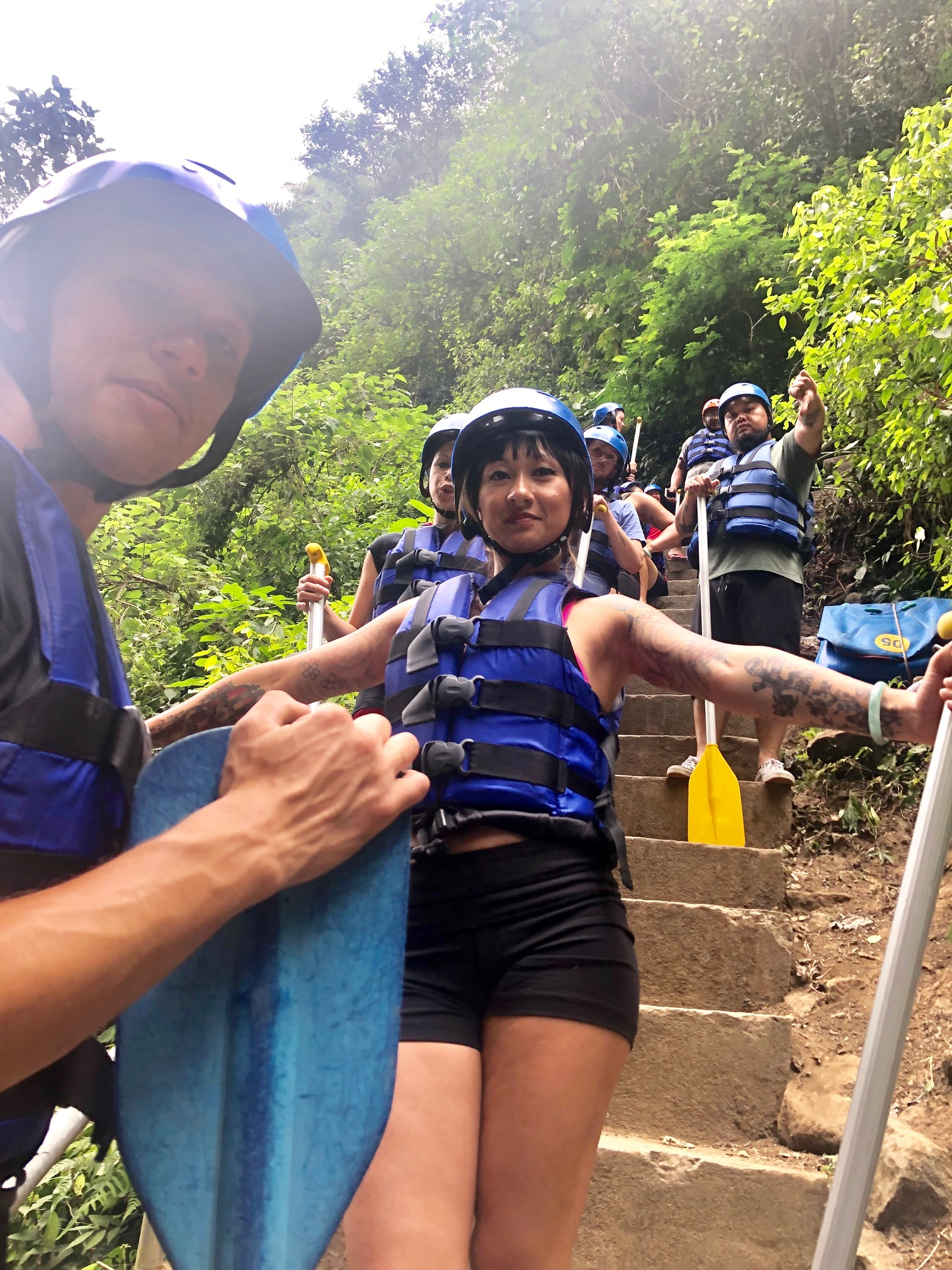 See me back there? I gave it a thumbs down cuz I didn't want do it at first but I didn't want fear to hold me back of this great memory in Bali together.