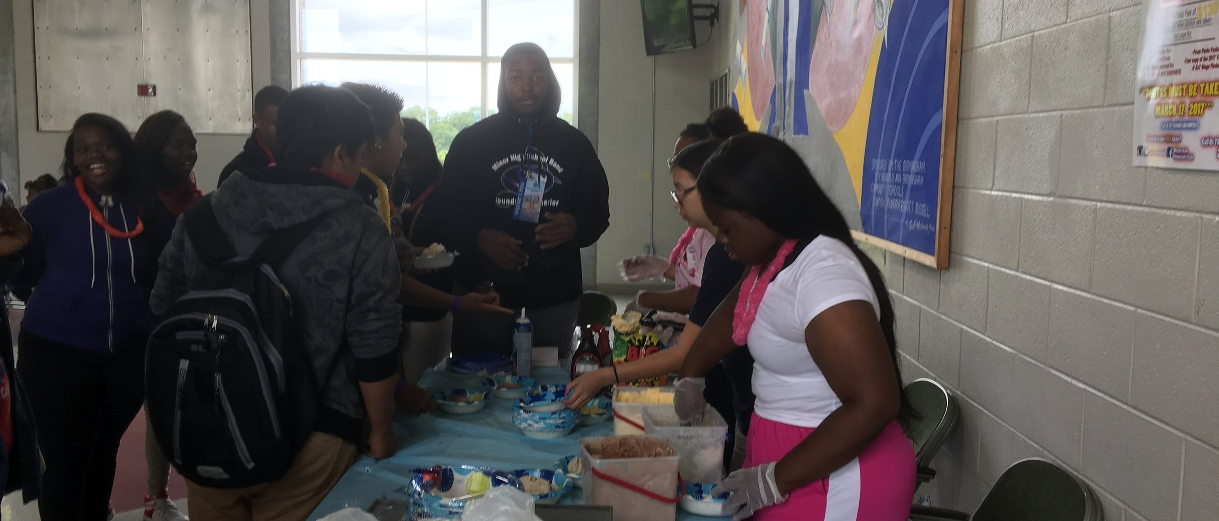 Stepping UP Celebration for all 9th graders that passed all their classes at Caver H.S. Birmingham Al