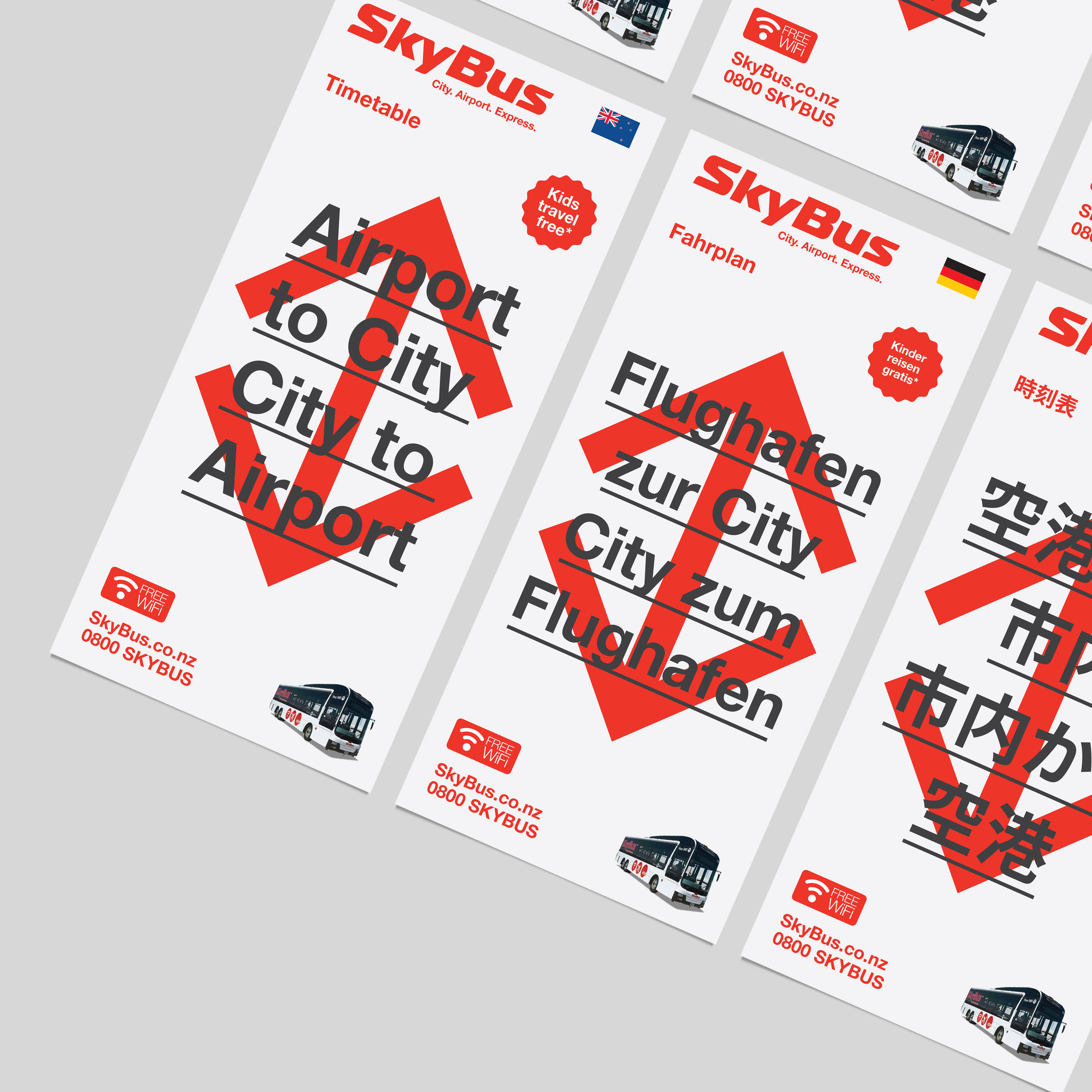 SkyBus  Visual Identity—Map Illustration