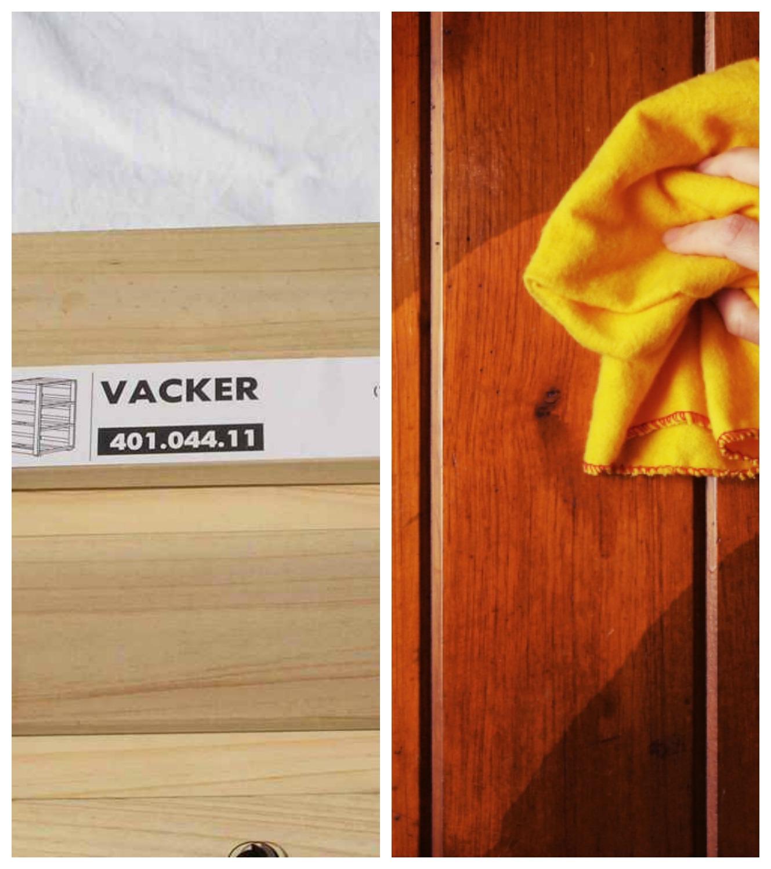 IKEA flatpack furniture polish