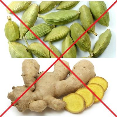 No Cardamom and ginger