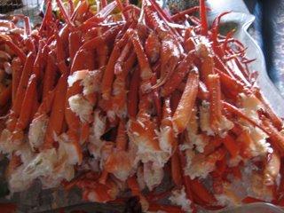 Frozen crab legs