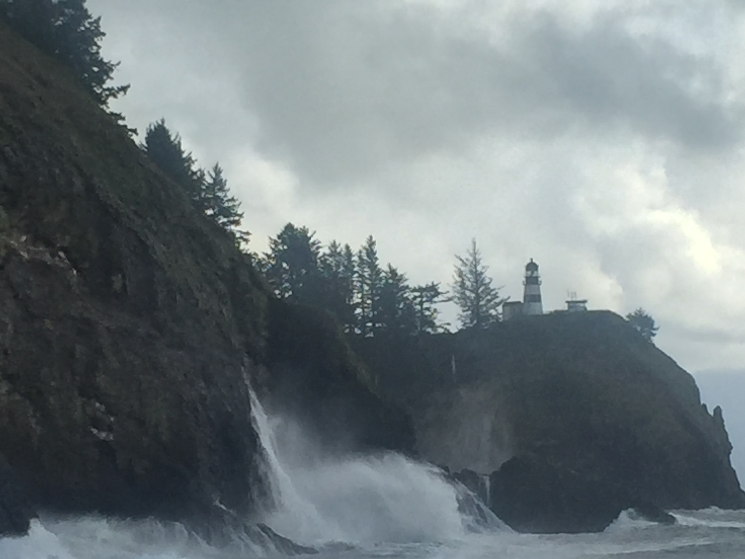 North Head Light, Cape Disappointment (the other side of that point is where the Columbia meets the sea).