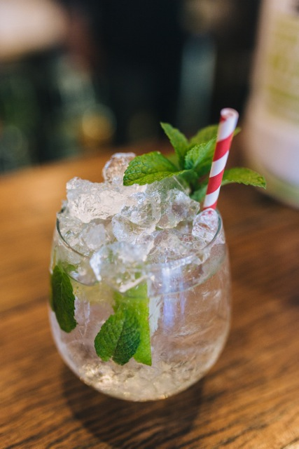 A finished Mister Mixer mojito