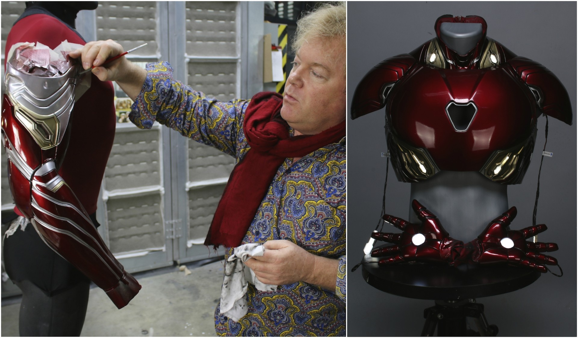 Legacy Effects Co-Founder, Shane Mahan, working his magic on the new Iron Man suit for Avengers: Infinity War.