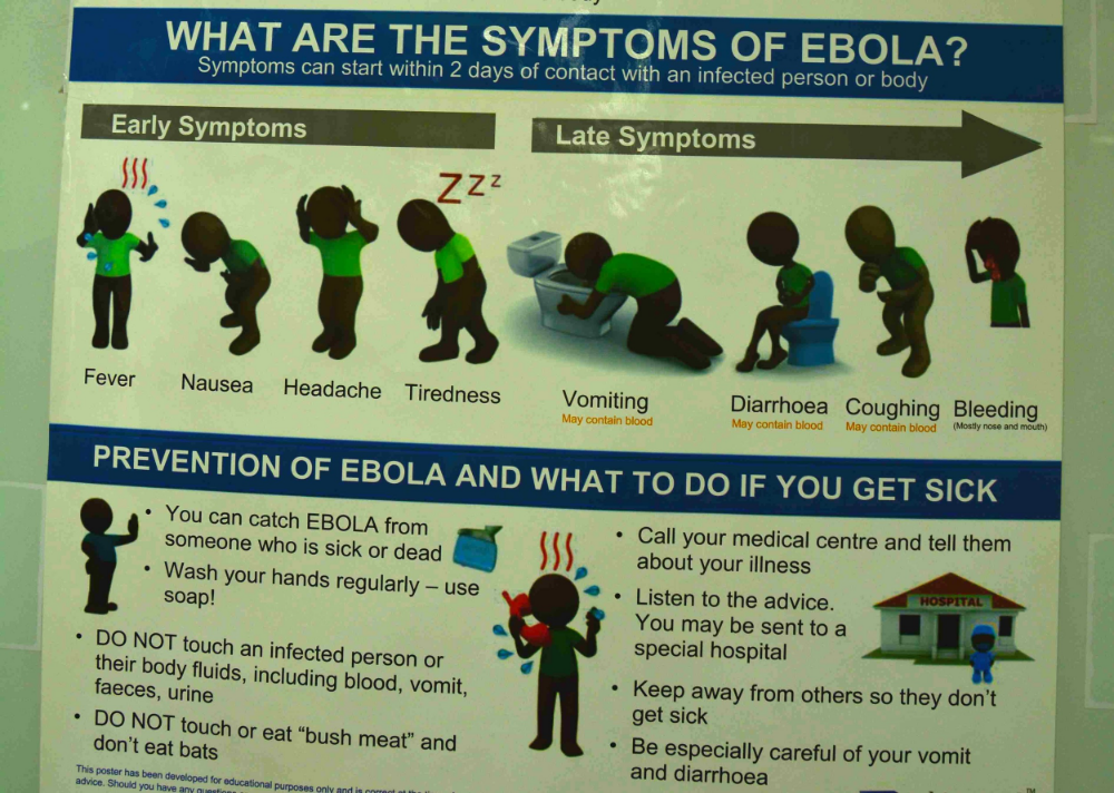 One of Many Ebola Information Posters Around Lagos. Photo Credit: Sulzhan Bali, PhD