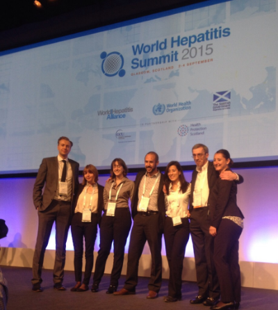 The World Hepatitis Alliance team members. Photo Credit: Caity Jackson