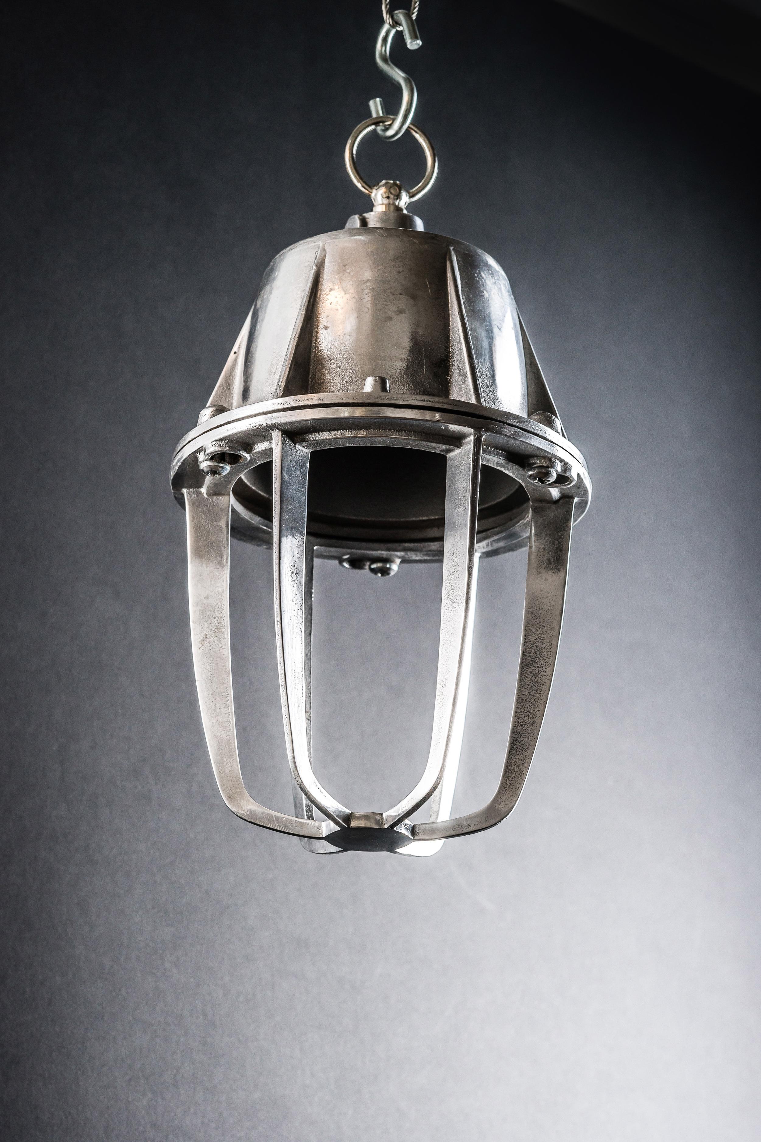 Caged Aluminium Pendant