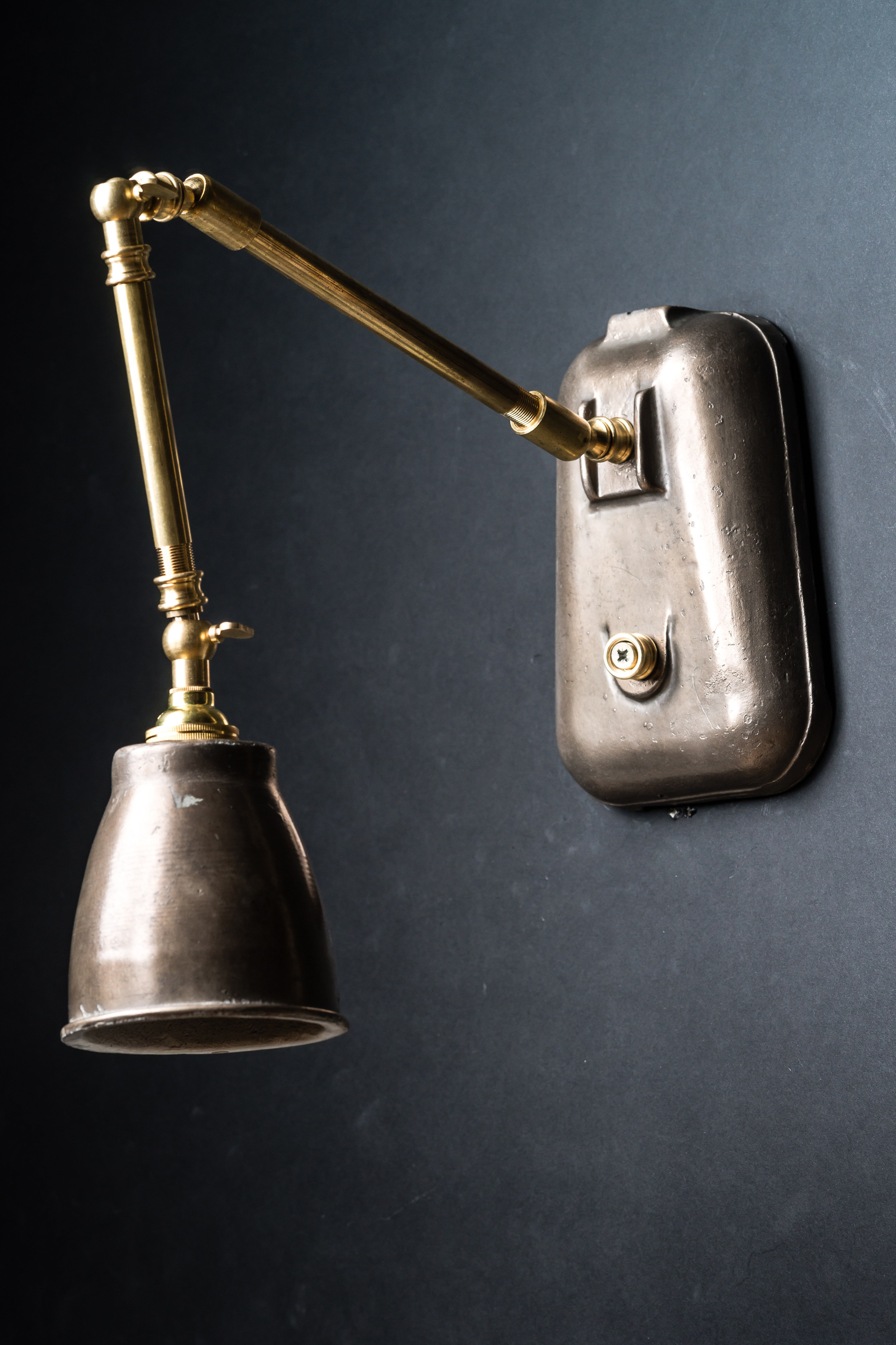 Pewter and Brass Wall Lights
