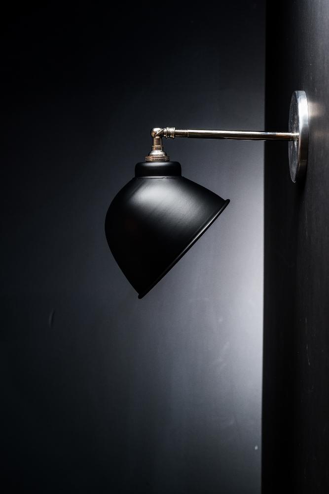Original Black Enamel Wall Light