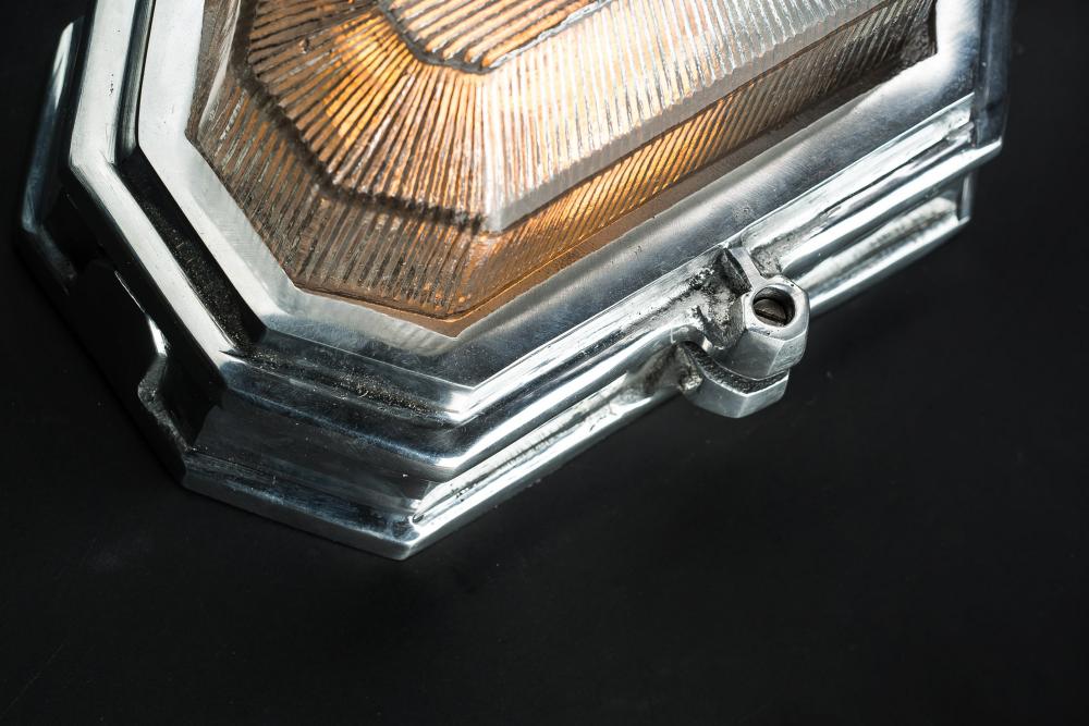 Hexagonal Aluminium Bulkhead Wall Light