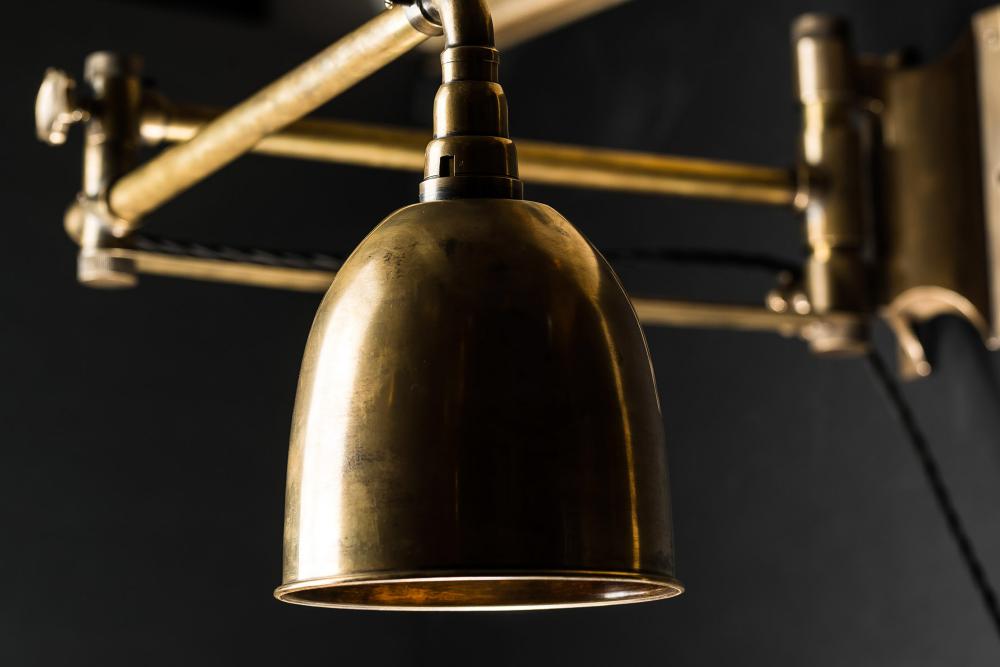 Brass Articulated Wall Light