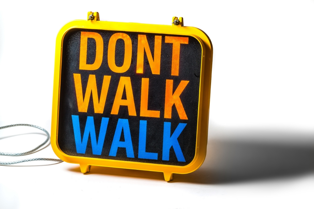 Original New York 'Walk / Don't Walk' Sign