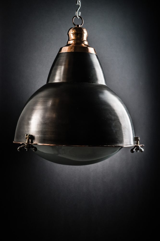 Steel and Copper French Pendant