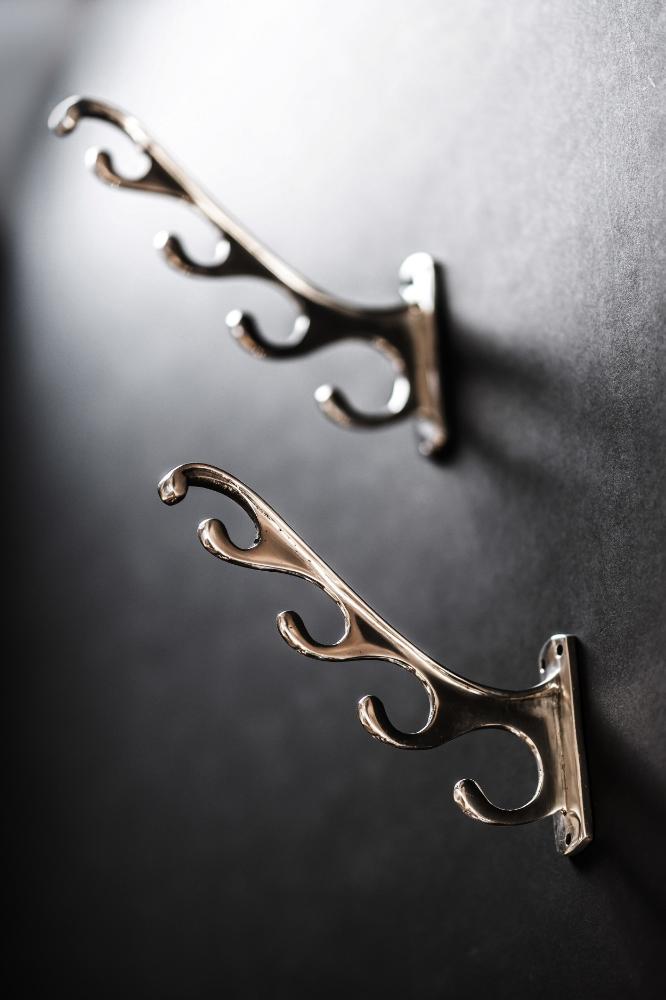 Savoy Hotel Polished Aluminium Antler Hooks 01.jpg