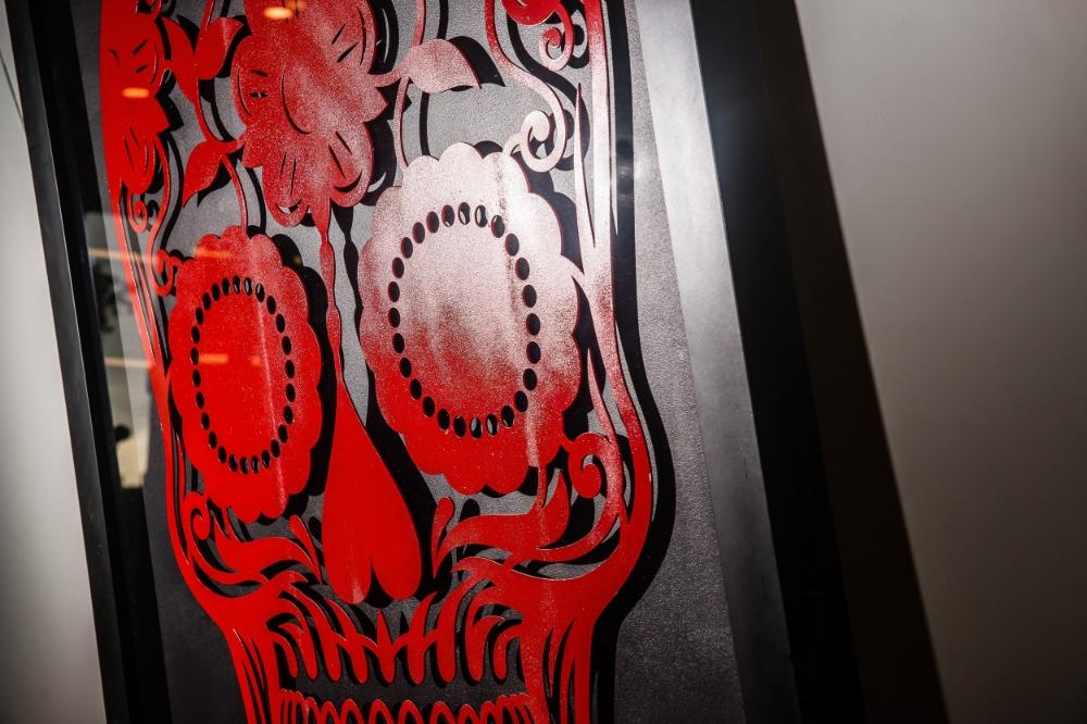 Laser Cut Steel Day Of The Dead Skull Felix Lighting
