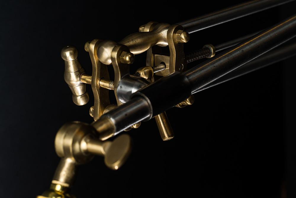 Steel and Brass Ratchet Wall Light 01.jpg
