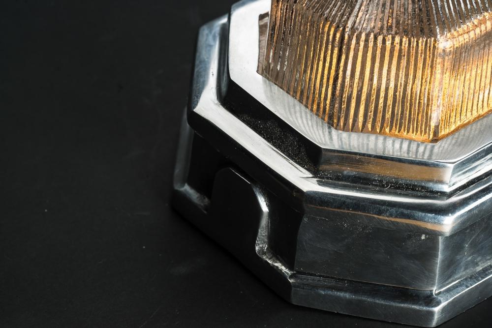Hexagonal Aluminium Bulkhead Wall Light 01.jpg