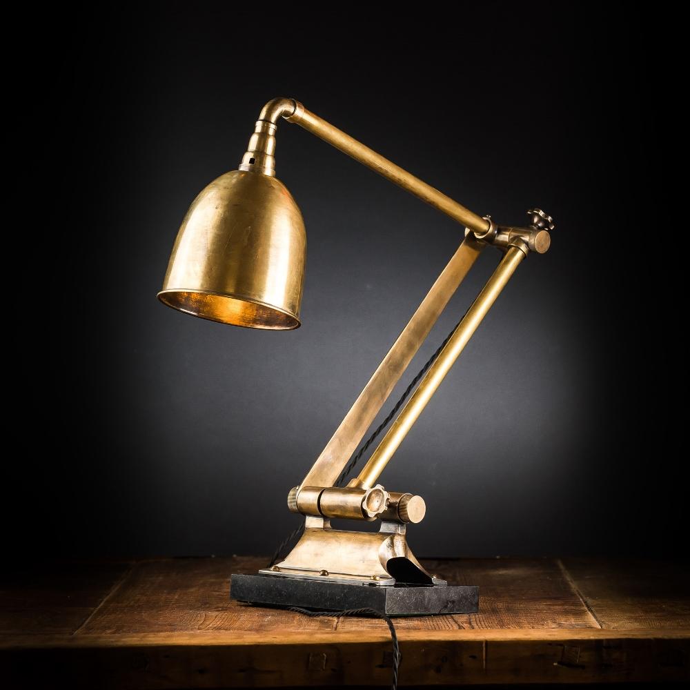 Vintage Articulated Brass Desk Lamp