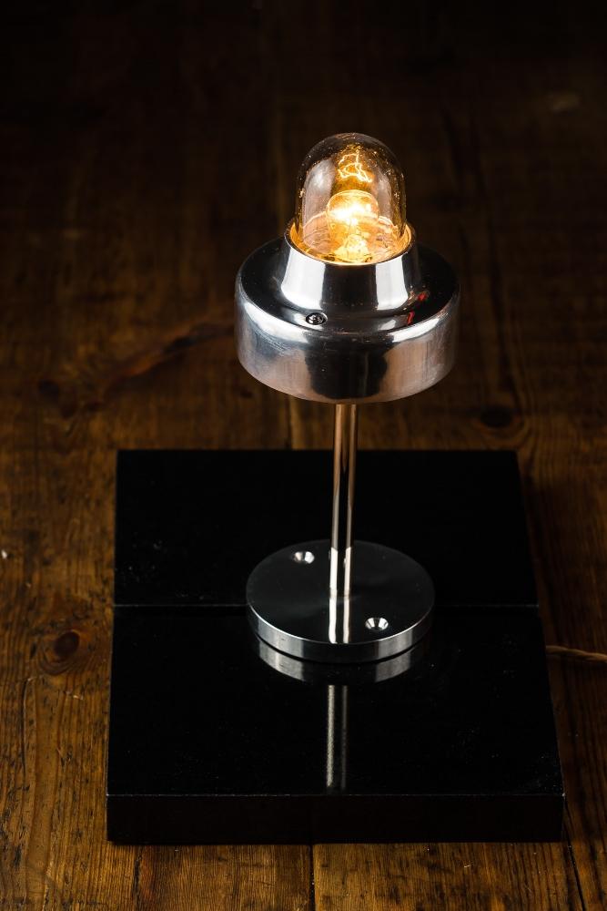 Aluminium and Steel Table or Bar-top Lamp