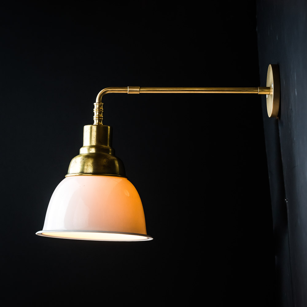 Brass and Bone China Wall Light