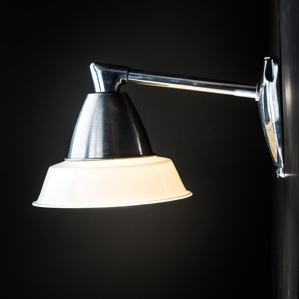 Bone China and Spun Aluminium Wall Light
