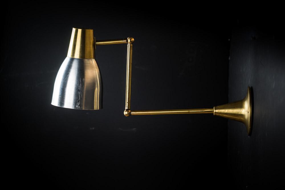 Brass & Aluminium Chart Wall Lights