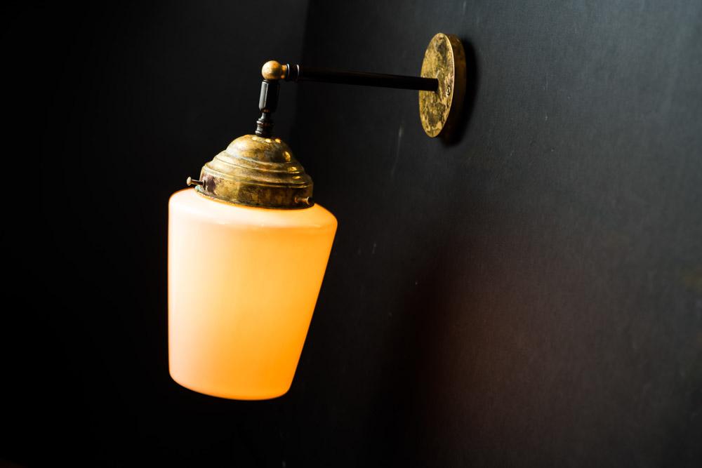 Felix Original Bone China and Aged Brass Wall Light