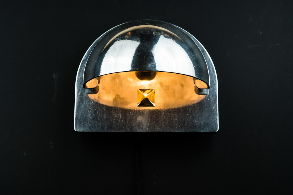 Vintage SS France steel and inset glass sconce02.jpg