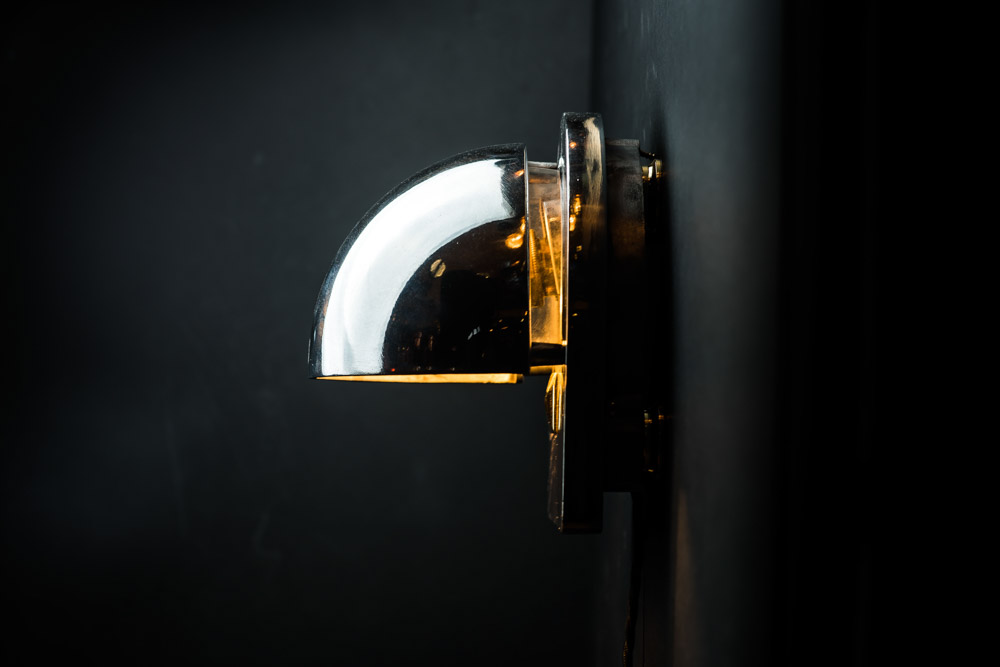 Vintage SS France steel and inset glass sconce04.jpg