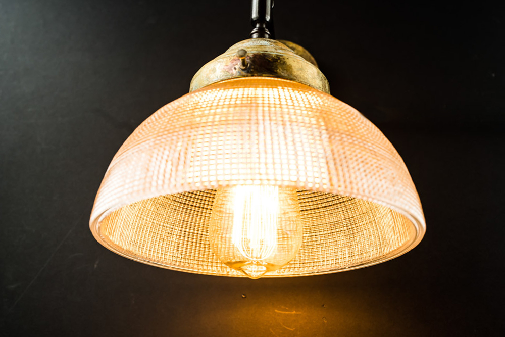 Vintage large holophane and aged brass wall light05.jpg