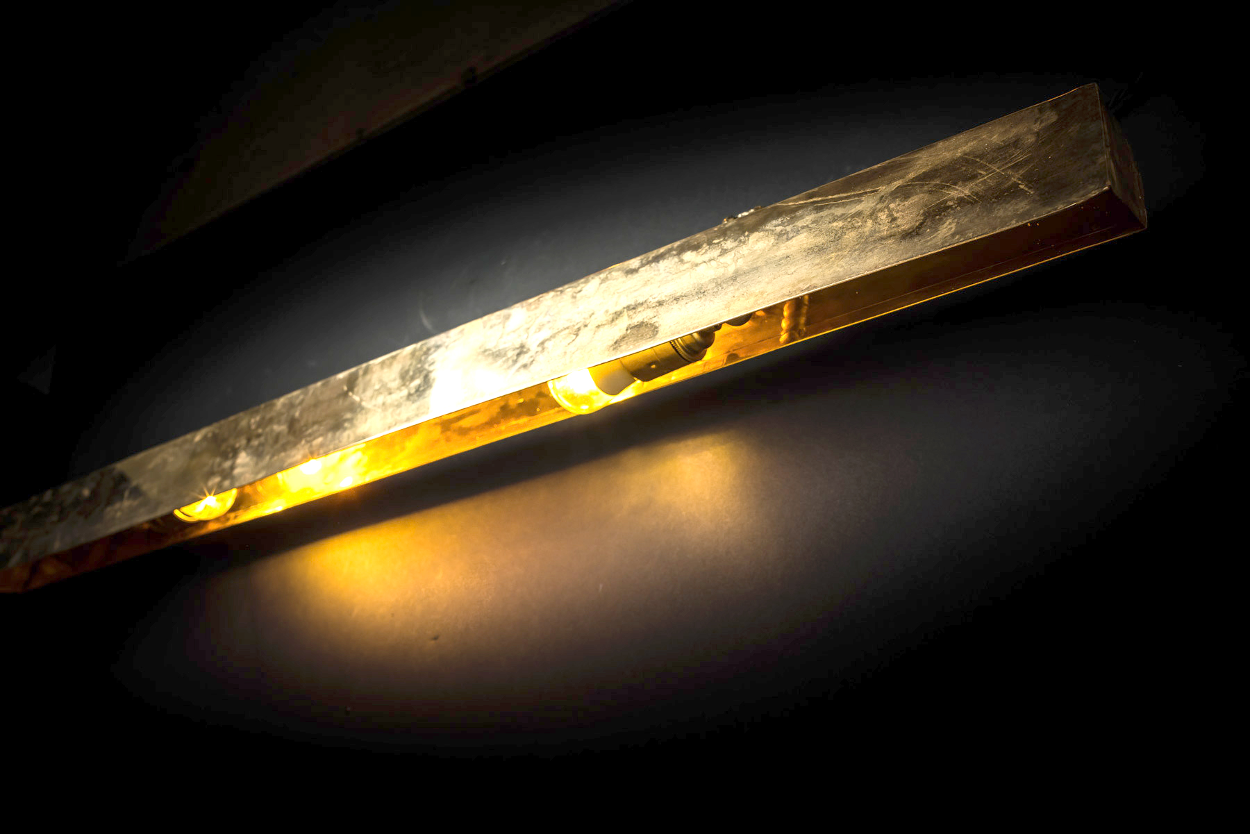 Metre Long Brass Wall Light