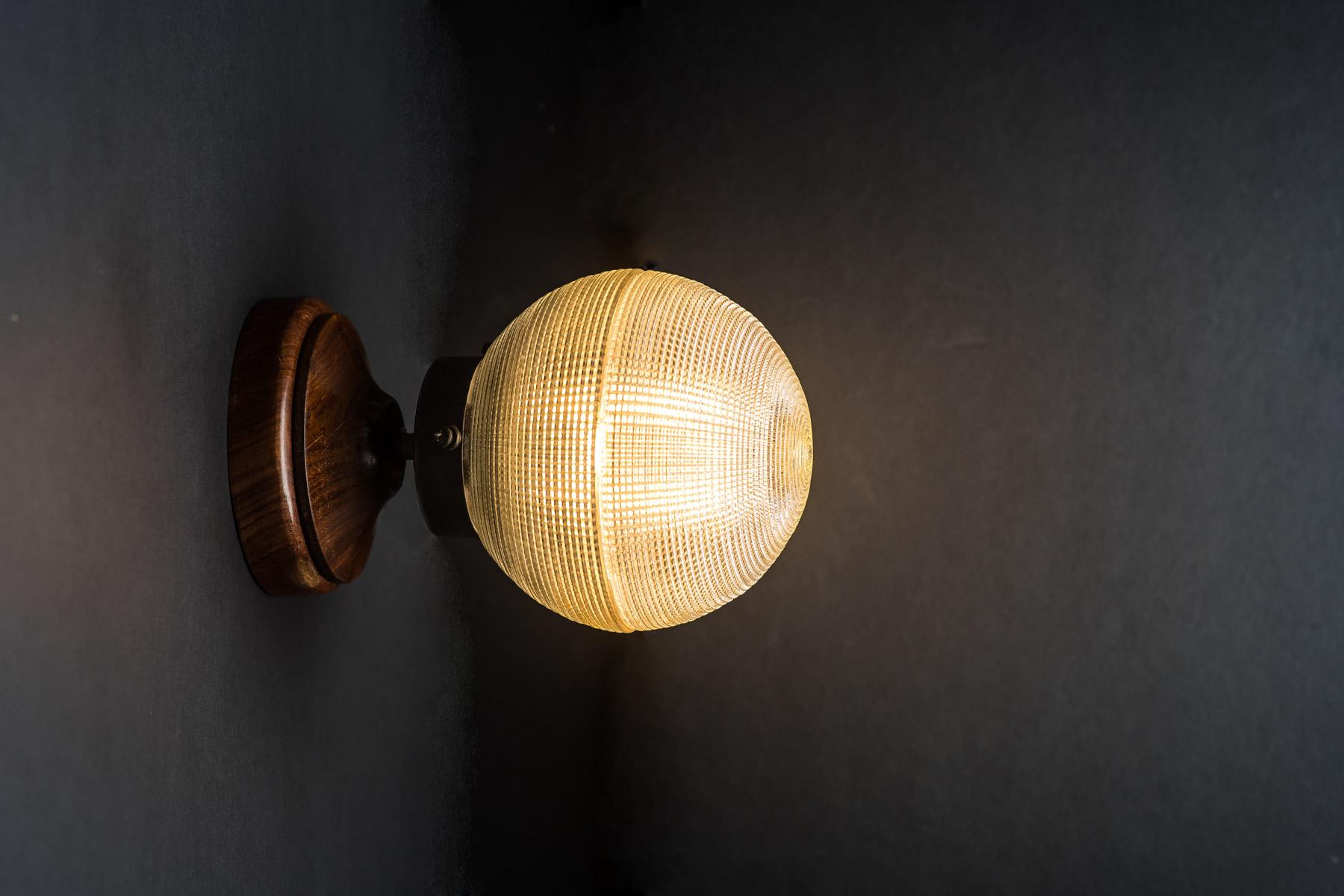 walnut and holophane glass bar top light  05.jpg