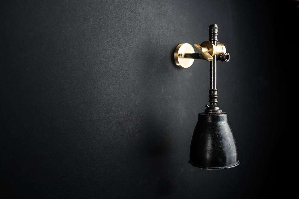 brass bronze and vulcan black stone adjustable wall light 08.jpg
