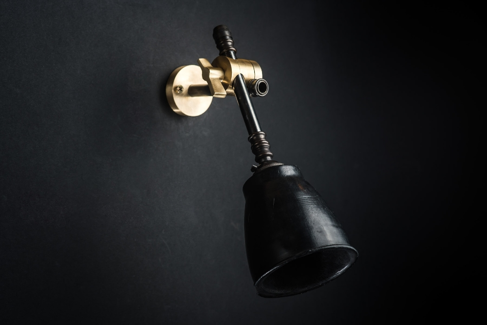 brass bronze and vulcan black stone adjustable wall light 09.jpg