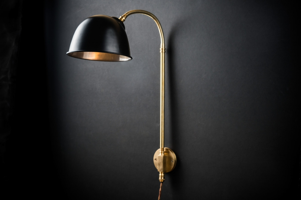 Felix Original Black and Brass Adjustable Wall Light