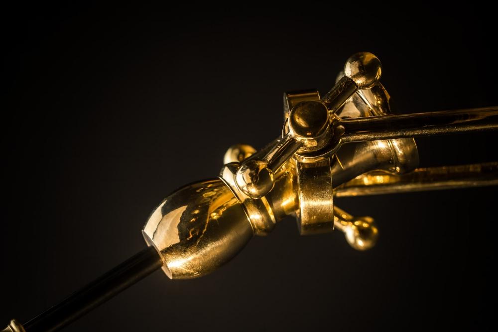 Adjustable brass and bronze 'hornet' wall light03.jpg