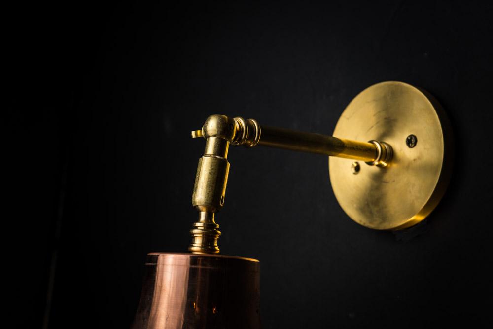 Copper, brass and holophane glass wall light 08.jpg