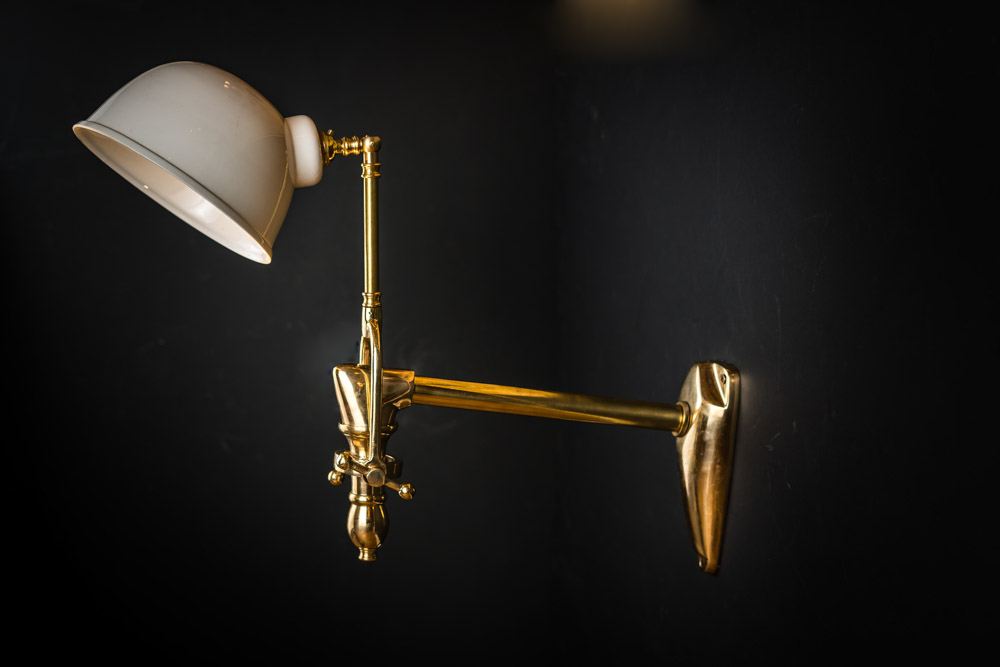 Solid Brass and Bone China Wall Light