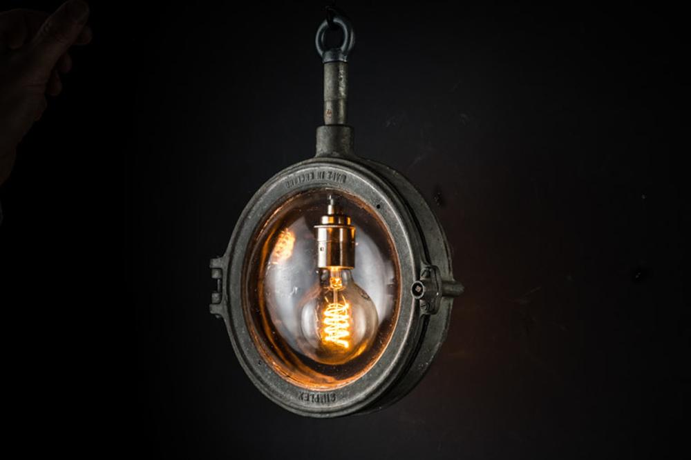 Rare Simplex cast iron and glass pendant.jpg