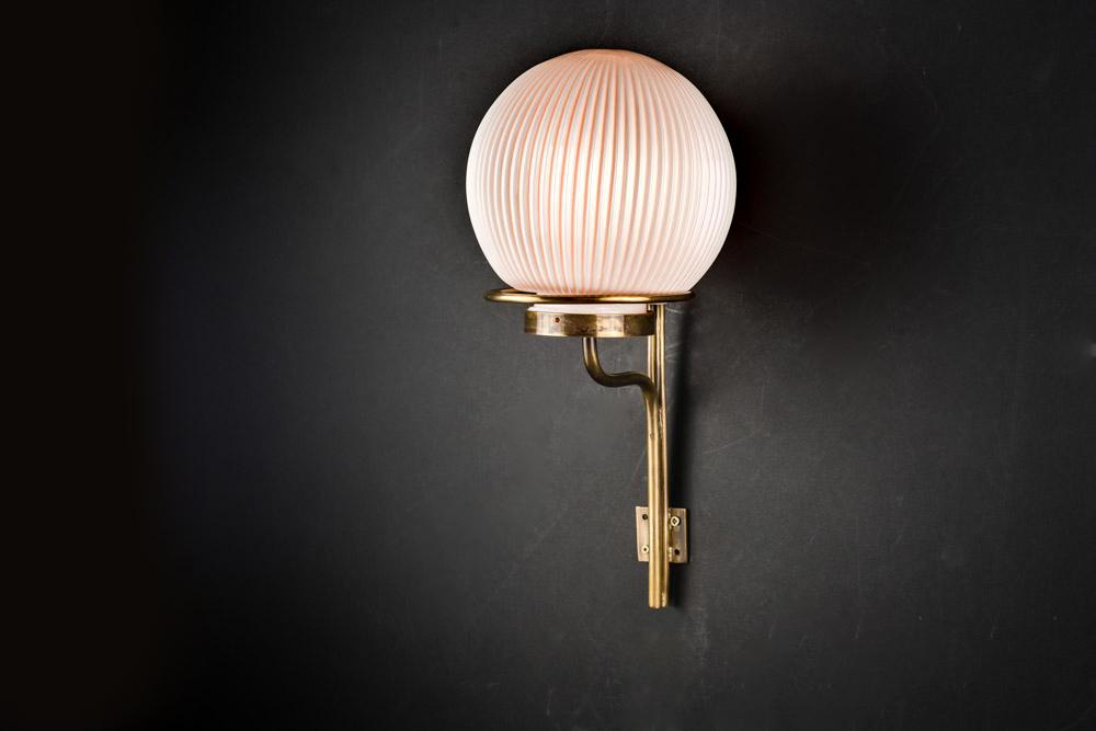 Bespoke Bone China and Brass Wall Light