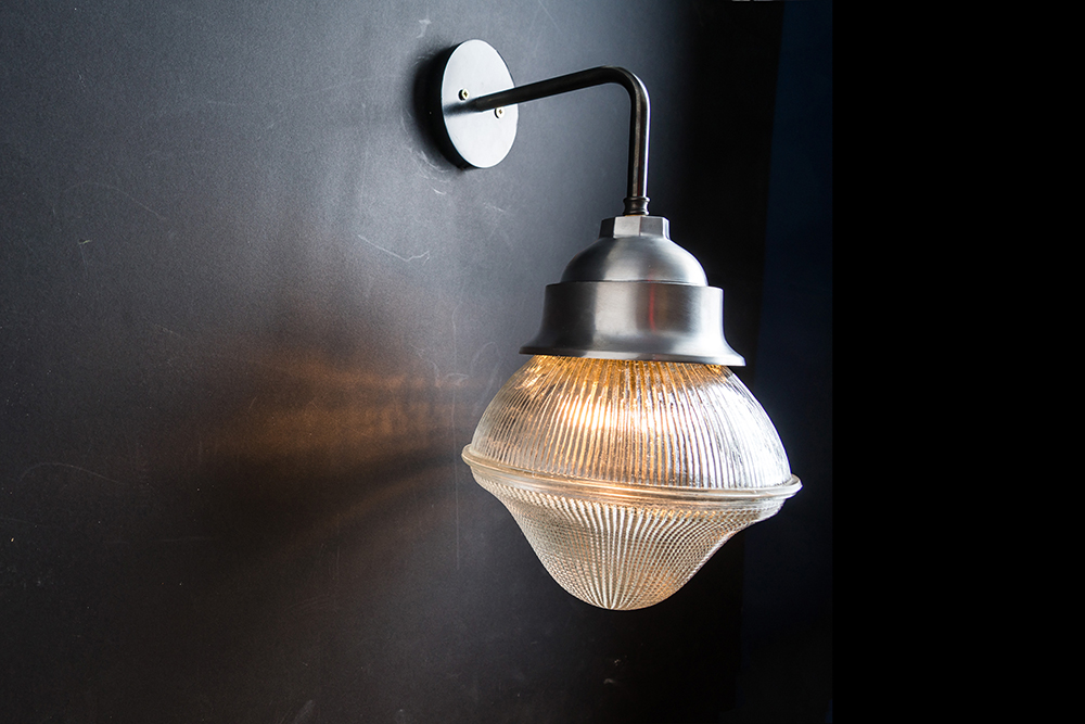 Holophane glass and steel wall light 06.jpg