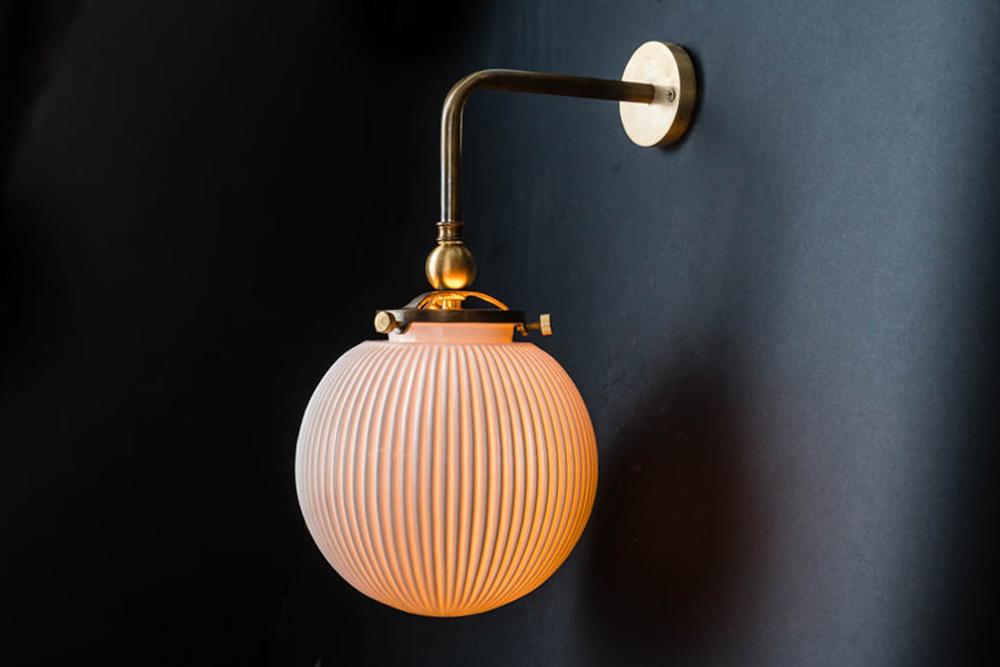 Ornate brass and bone china wall light 02.jpg