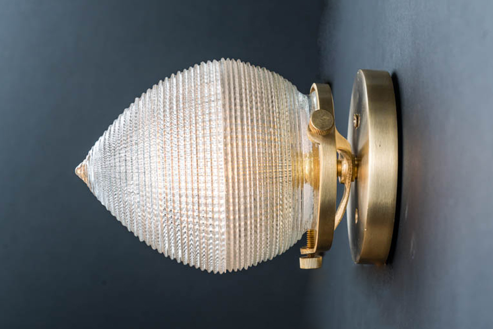 Brass mounted surgical holophane glass wall light 03.jpg