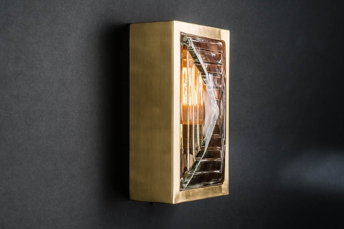 Rectangular brass and prismatic glass sconce 03.jpg