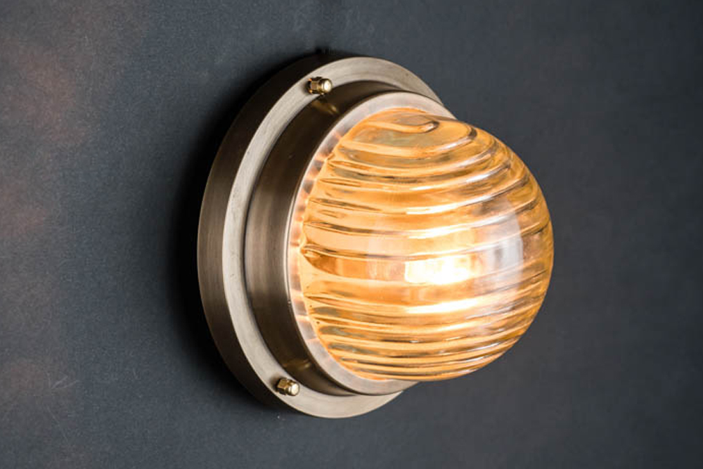 domed fresnel glass and brass passageway light 01.jpg
