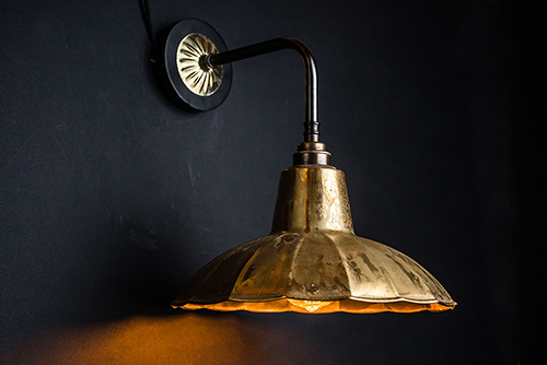 Crimped aged brass and bronze wall light 01.jpg
