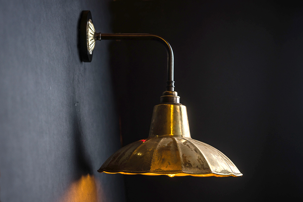 Crimped aged brass and bronze wall light 04.jpg